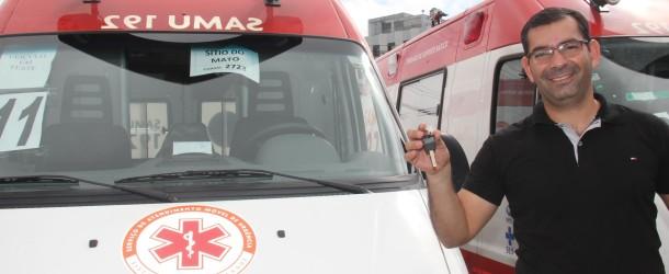 Ambulância nova na Samu de Sítio do Mato.